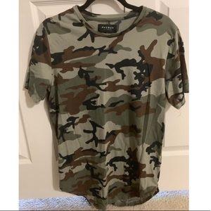 PacSun Men's Longline Camoflauge Shirt